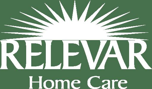 Relevar logo white