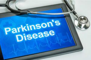 Parkinson's disease on physician tablet